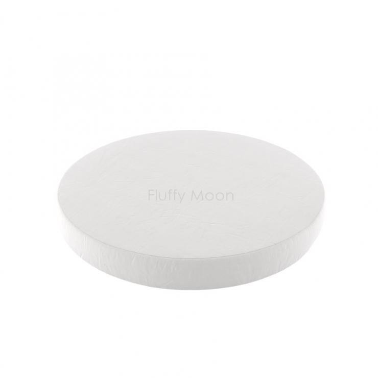 Простыня на круглую кроватку (цвет: белый)