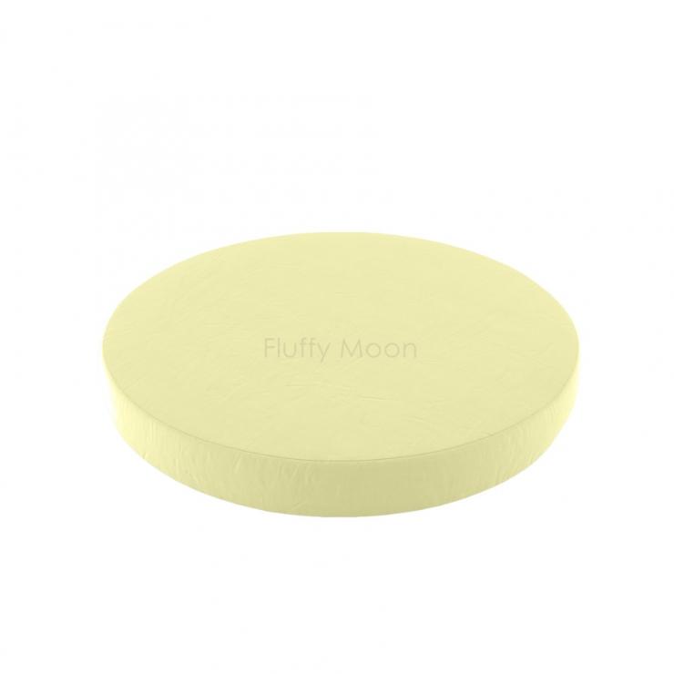 Простыня на круглую кроватку (цвет: лимонный)