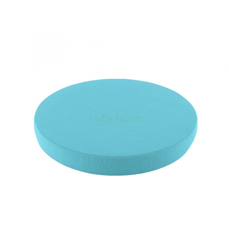 Простыня на круглую кроватку (цвет: небесная бирюза)
