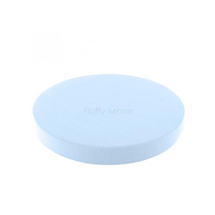 Простыня на круглую кроватку (цвет: нежно-голубой)