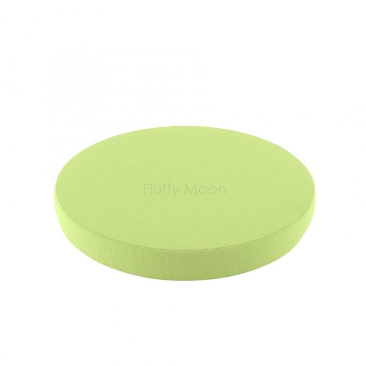 Простыня на круглую кроватку (цвет: салатовый)