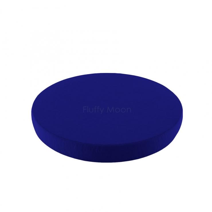 Простыня на круглую кроватку (цвет: темно-синий)