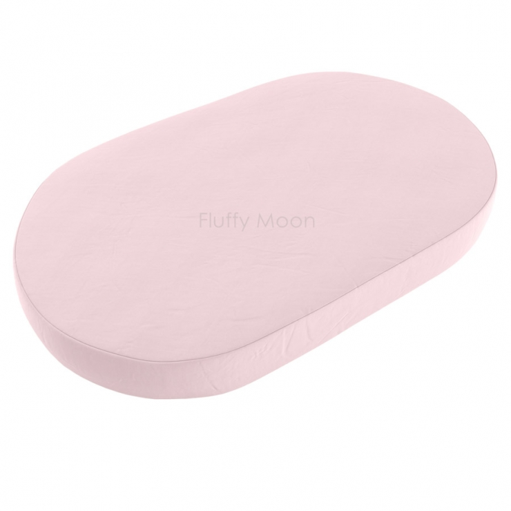 Простыня на овальную кроватку (цвет: нежно-розовый)