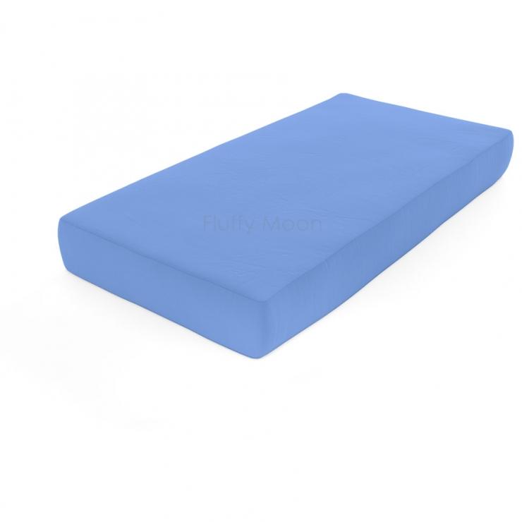 Простыня на резинке (цвет: голубой)