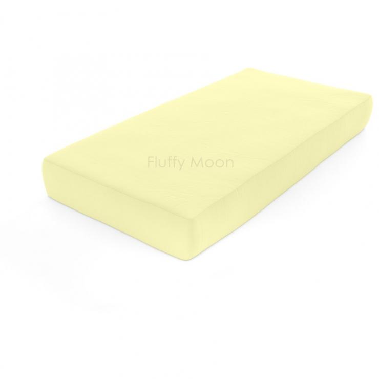 Простыня на резинке (Цвет: лимонный)