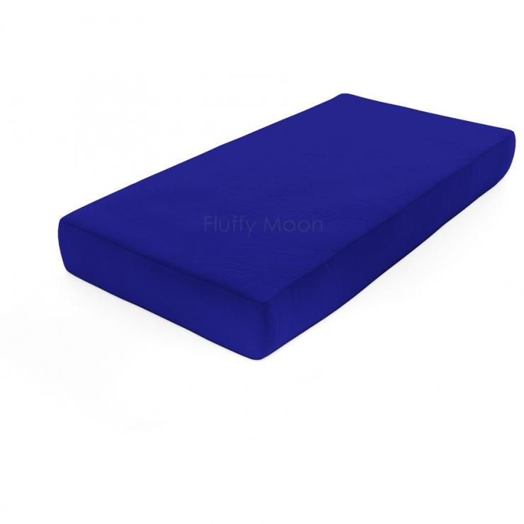 Простыня на резинке (Цвет: синий)