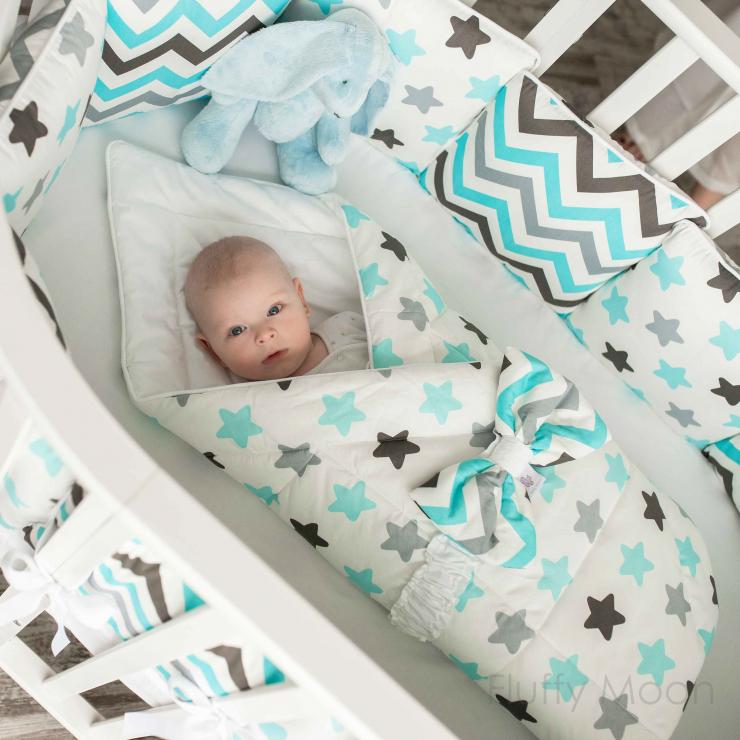 """Конверт-одеяло для новорожденного """"Blue Sky"""""""